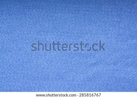 Blue felt background - stock photo
