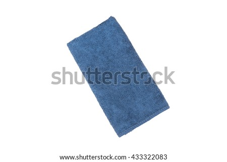 blue Fiber Fabric on white background,clipping path - stock photo