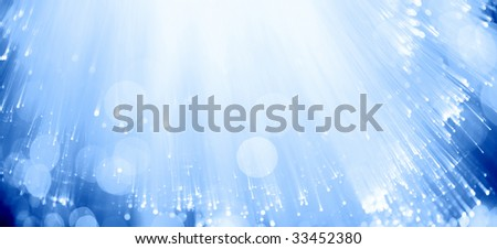 Blue fiber optics - stock photo