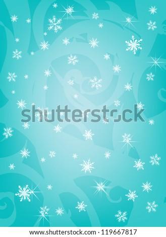 Blue flakes - stock photo