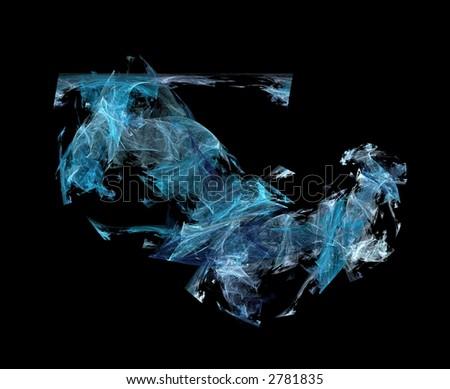 Blue Fractal - stock photo