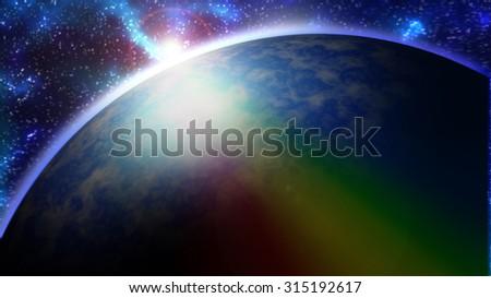 blue galaxy - stock photo