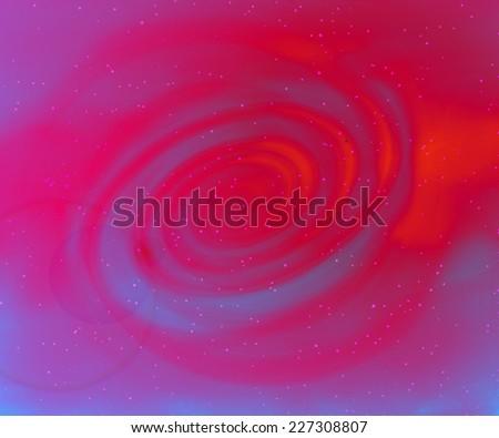 Blue galaxy background - stock photo