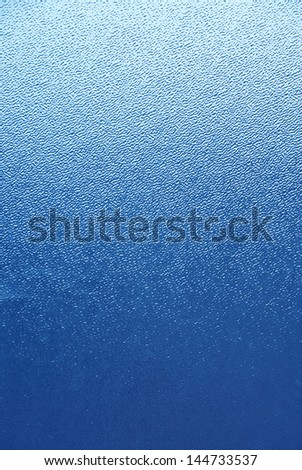 blue glass - stock photo