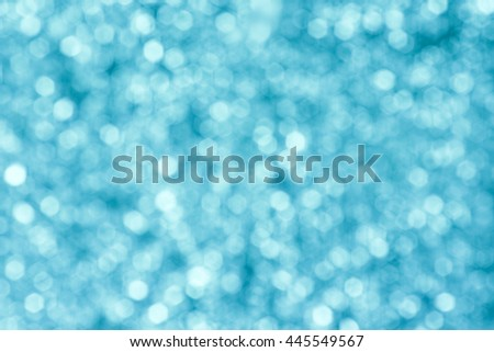 blue glitter luxury bokeh background for christmas happy new year - stock photo