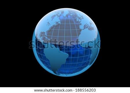 Blue globe - stock photo