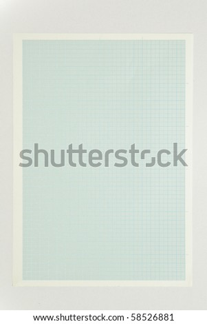 Blue graph paper isolated on white background - stock photo
