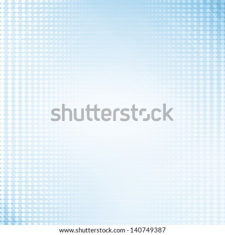 Blue graphic pattern design background with white round dots and lighting effect. - stock photo