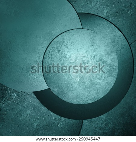 blue green background abstract art design, modern style with vintage background texture, circle button or blank round layout with text room for web design background, product display  - stock photo