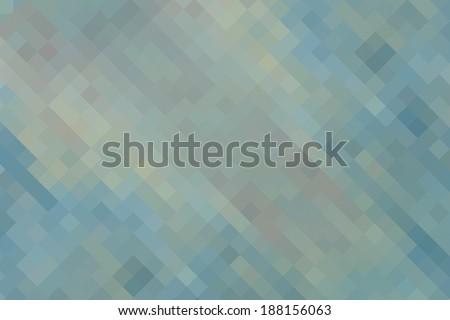 Blue green yellow  vintage geometric background - stock photo