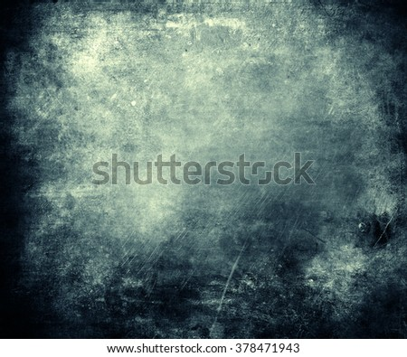 Blue Grunge Background, Abstract Texture, Beautiful Wall - stock photo