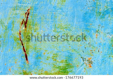 Blue Grunge Background for your design - stock photo