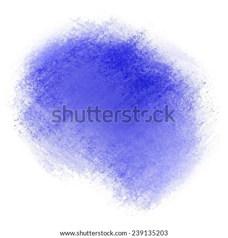 blue grunge color splash for graphic art design background color, blue copyspace stain isolated on white background - stock photo