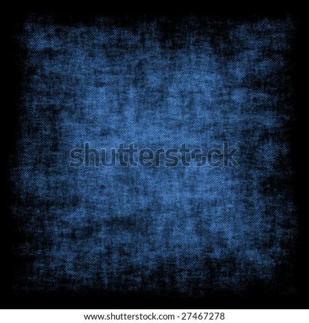 Blue grunge retro background - square format - stock photo