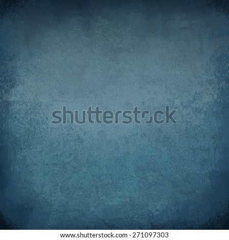 blue grunge wall - stock photo