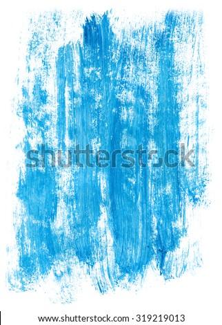 blue-hand-painted-brush-stroke-background - stock photo