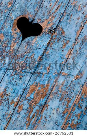 Blue Heart - stock photo
