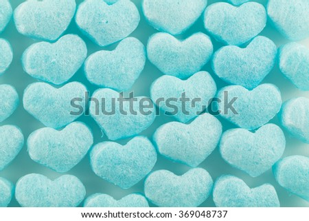 blue  heart of buffer  for web page background - stock photo