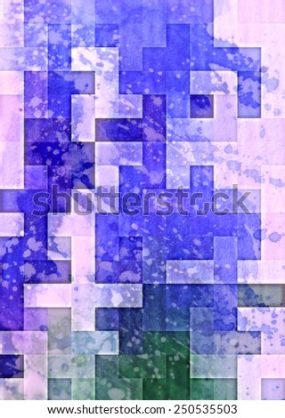 blue Highly detailed grunge abstract textured collage design ,background or texture  - stock photo