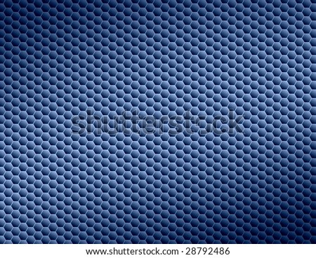 Blue Honeycomb Abstract Background - stock photo