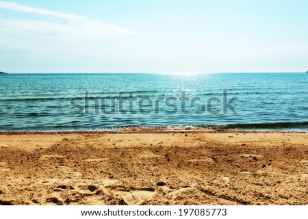 Blue horizon of the see.  - stock photo