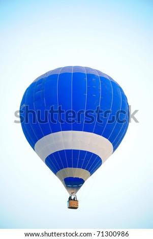 Blue hot air balloon in Thailand. - stock photo