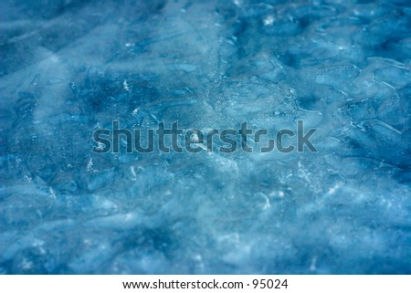 Blue Ice Background II - stock photo