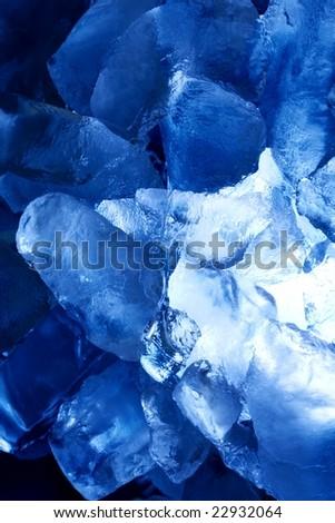 blue ice vertical - stock photo