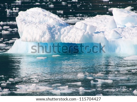Blue Iceberg - stock photo
