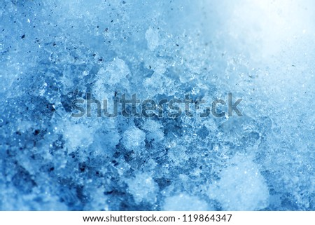 Blue icy natural background for design artwork - stock photo