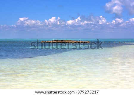 blue     in mexico froath and blue  foam  the sea drop sunny day  wave - stock photo