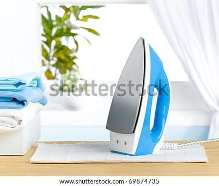 blue iron for smart housework - stock photo