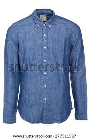 Blue jean male shirt - stock photo