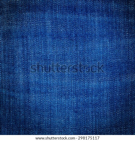 Blue Jeans Denim Texture - stock photo
