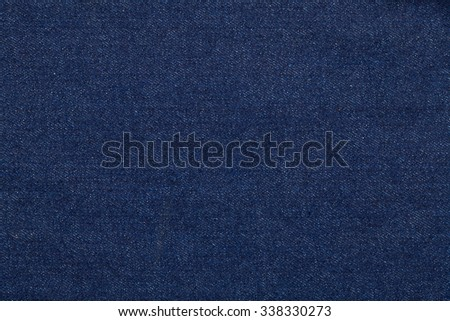 Blue jeans fabric made of raw denim textured background - stock photo