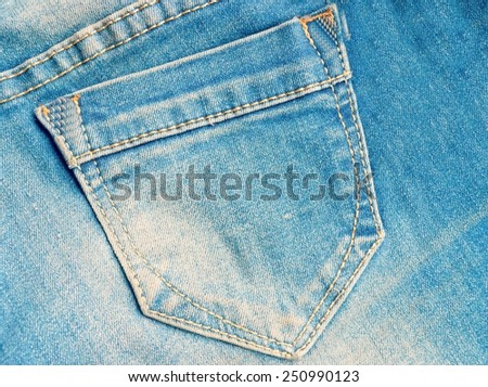 Blue jeans pocket.jeans texture - stock photo