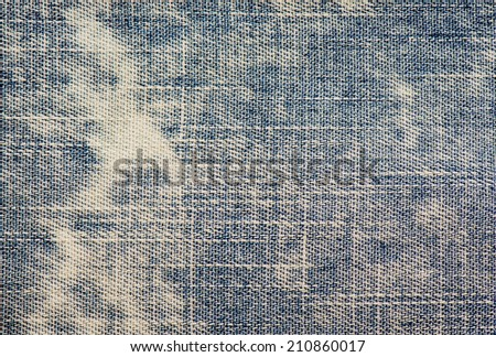 Blue jeans texture - stock photo