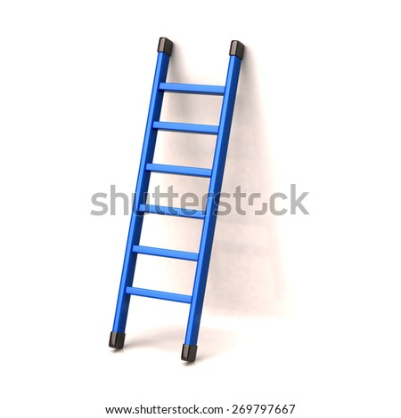 Blue ladder to success - stock photo