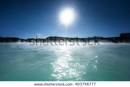 Blue lagoon Iceland - stock photo
