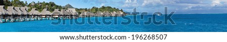 Blue lagoon. Polynesia, panorama  - stock photo