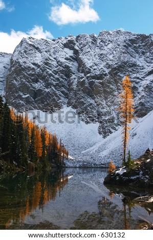 Blue Lake, North Cascades, Washington State - stock photo