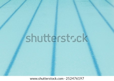 Blue lane in swimming pool - stock photo