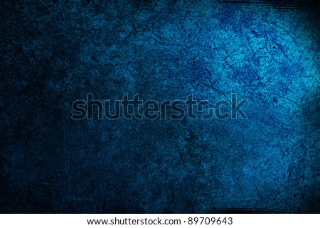 Blue large grunge textures and backgrounds - stock photo