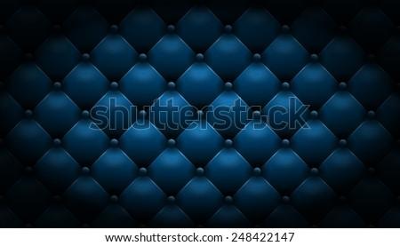 blue leather background - stock photo