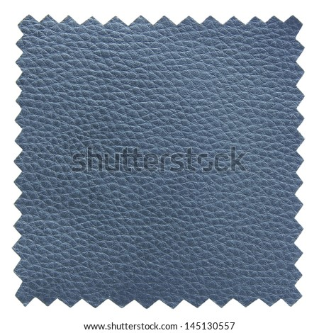 blue leather samples texture - stock photo