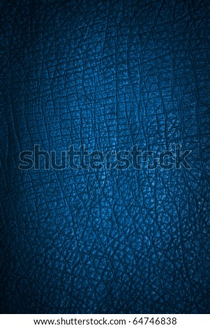 blue leather texture. Close up. - stock photo
