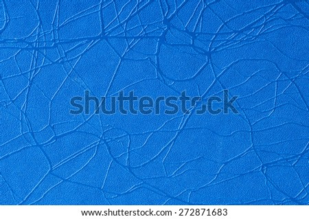 Blue leather texture for background. - stock photo