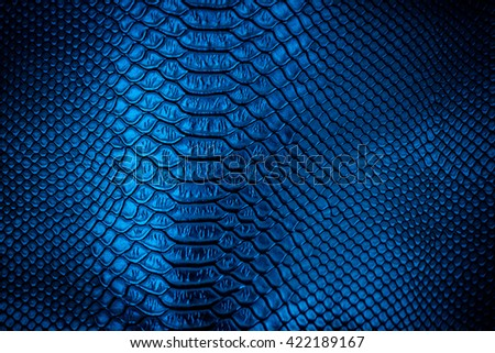 Blue leather texture  use for background - stock photo