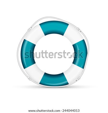 blue life buoy.  - stock photo
