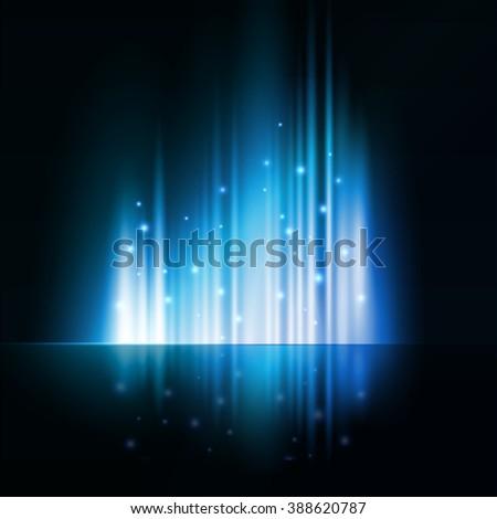 Blue light. Abstract shiny background.  - stock photo